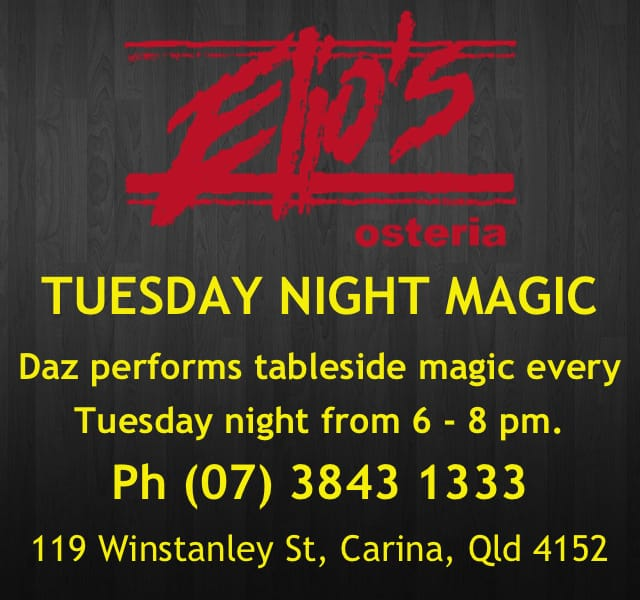 Elios Brisbane Magician Daz Buckley