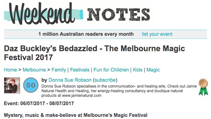 Weekend Notes- Bedazzled